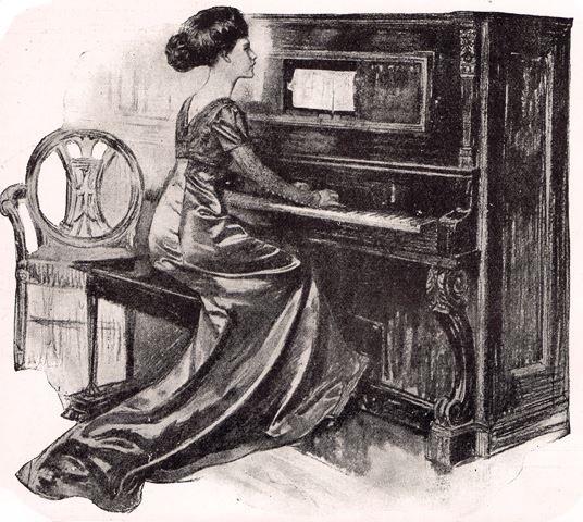 original Weber pianola advert 1920s
